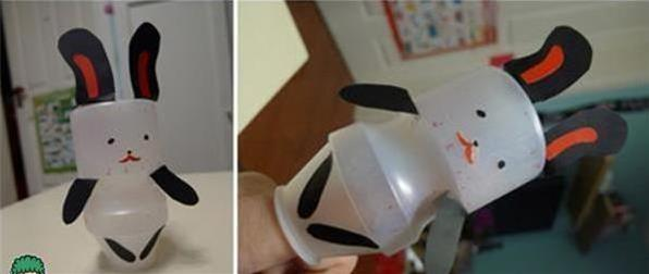 养乐多瓶子废物利用手工制作diy 教你用养乐多瓶子制作小动物玩具